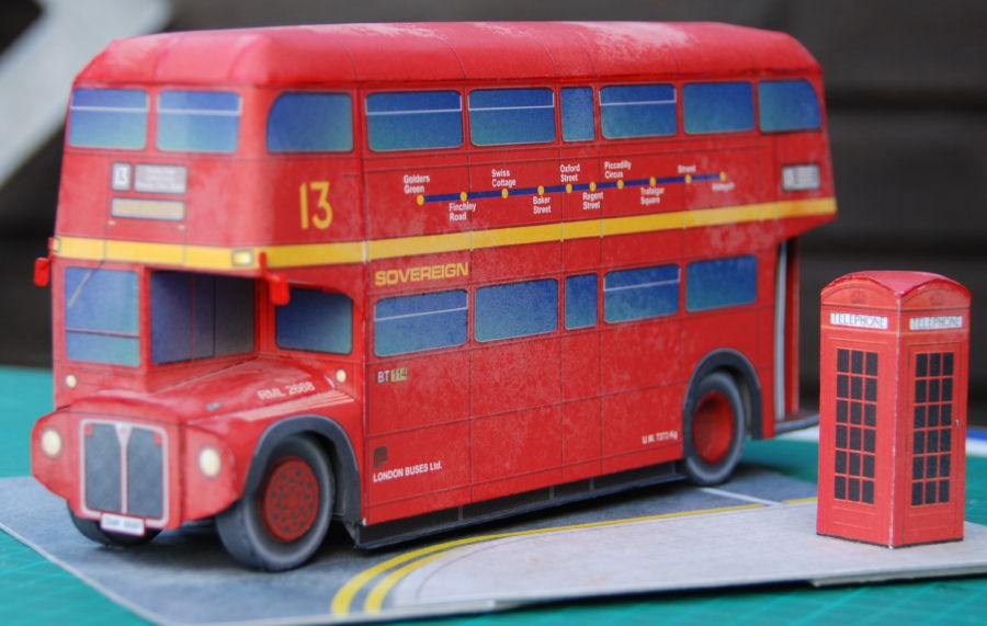 how to make a cardboard bus model